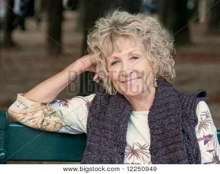 Attractive Senior Woman Relaxing