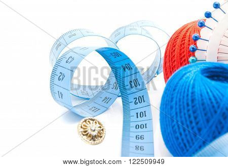 Meter, Button, Pins And Thread