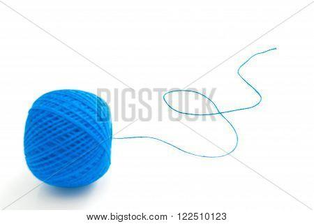 Blue Thread On White
