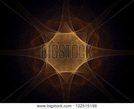 Abstract fractal lens flare space or time travel concept background