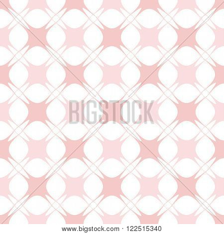 Abstract geometric vector pattern. Seamless pink checked background. Rose quartz tint ornamental texture.