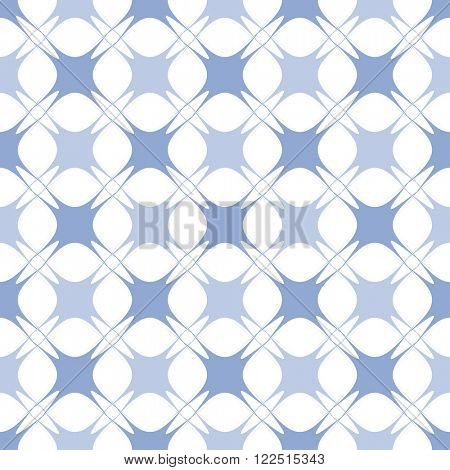 Abstract geometric vector pattern. Seamless blue and lilac checked background. Serenity tint ornamental texture.