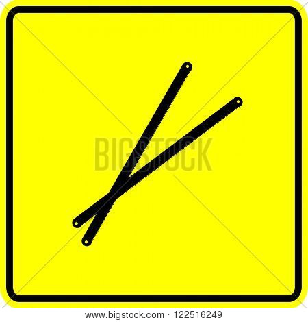 hacksaw blades sign