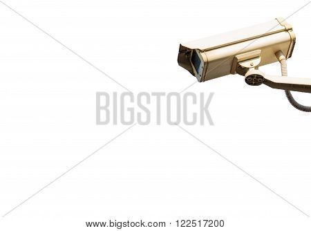 Security Camera or CCTV Camera isolated on white background