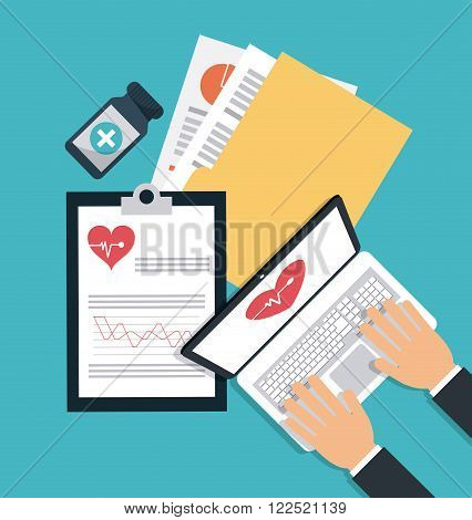 Medical concept with icon design, vector illustration 10 eps graphic.