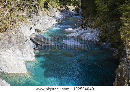 River landscape at the West Coast New Zealand