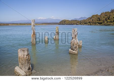 Landscape At The West Coast Of The South Island New Zealand