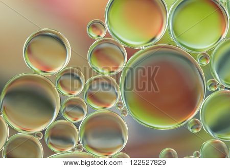 the water bubbles abstract of light illumination