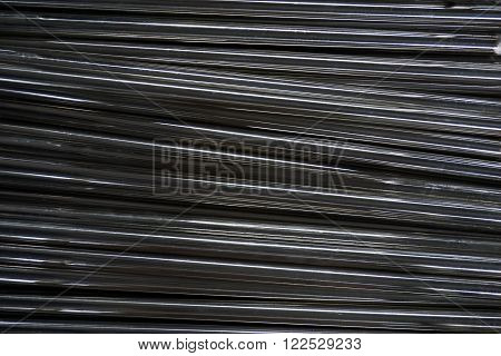 line up stainless steel shaft for background used