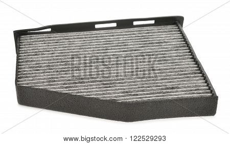 Automobile filter isolated on white background close up
