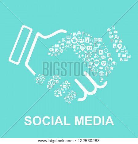 social media concept-social media icon connect together