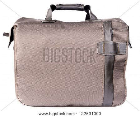 Shoulder bag side view isolated on the white background