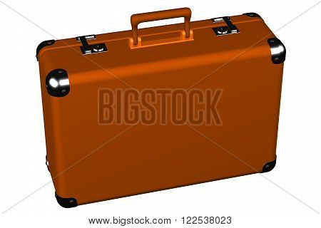 Suitcase isolated on white background. 3D render.