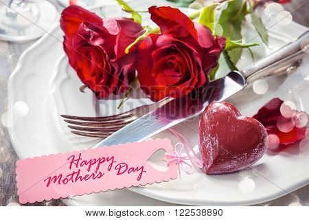Festive place setting for Mothers day