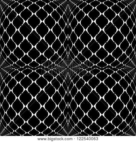 Design Seamless Warped Grid Geometric Pattern