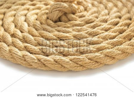 ship rope on white background