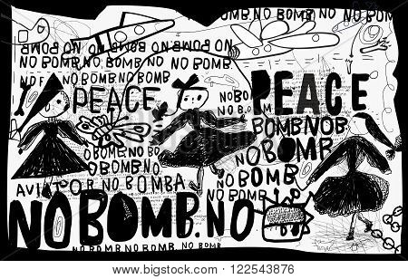 A poster that contains a protest against the bombing
