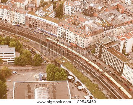 Berlin Aerial View Vintage