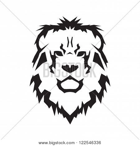 Lion head vector illustration crest heraldic symbol