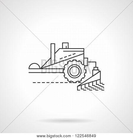 Combine equipment line flat thin line vector icon