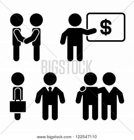Business Coaching and Mentoring Icons Set. Vector illustration