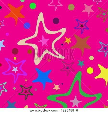 Seamless Pattern Stars 33