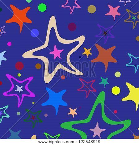 Seamless Pattern Stars 34