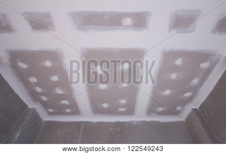 Gypsum Board Ceiling Construction Site