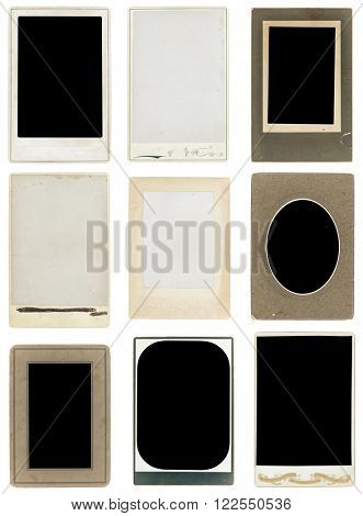 old photos collection, isolated, clipping path