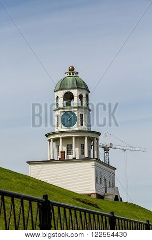 Classic Old Clock on Hill in Halifax Nova Scotia