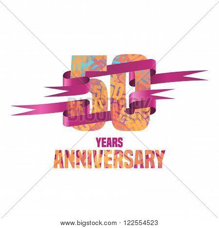 Vector logo for 50 years anniversary celebration