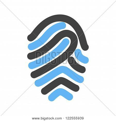 Fingerprint, print, unique icon vector image.Can also be used for security. Suitable for mobile apps, web apps and print media.