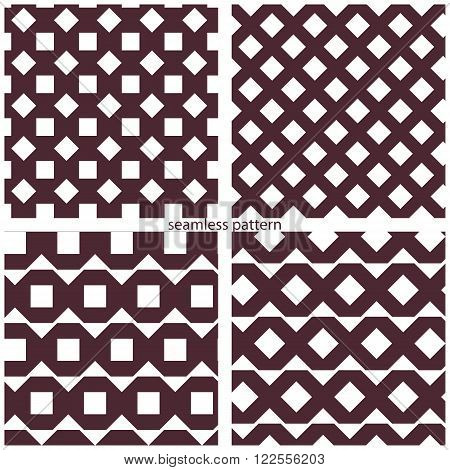 set of seamless patterns of octagons. vector illustration