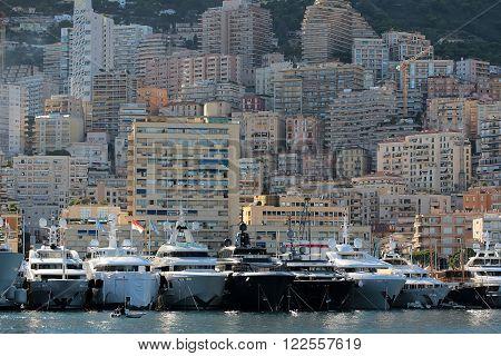 Yachts And Sailboats At Moorage