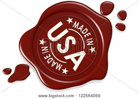Made In Usa Label Seal Isolated