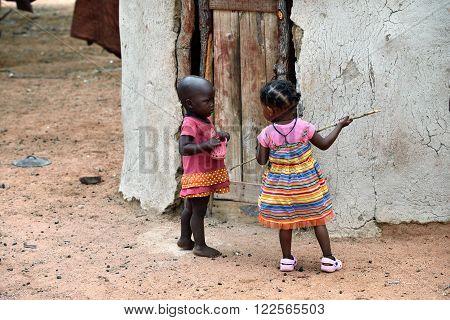 Little Himba Children, Namibia