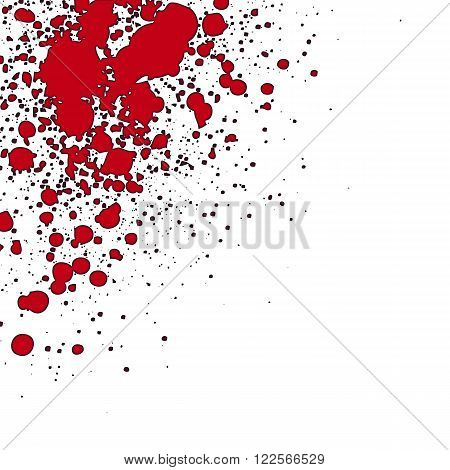 an abstract illustration of sprayed red blood