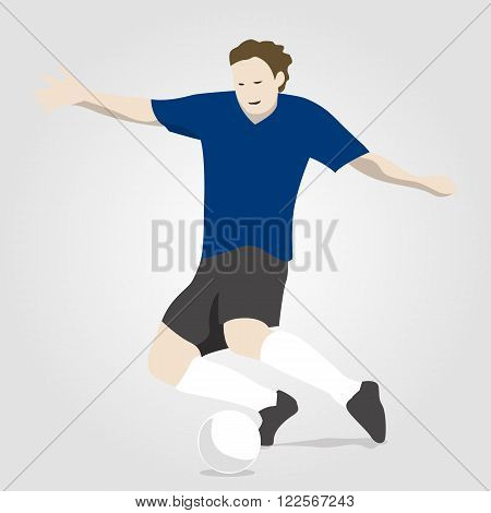 an illustration of a soccer player with ball
