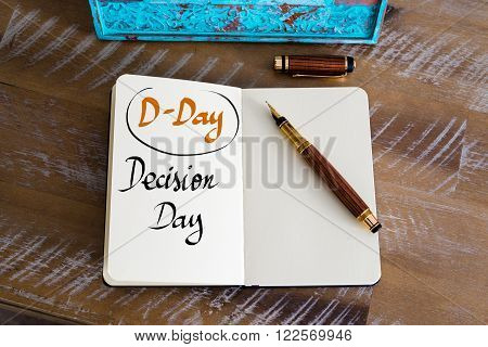 Business Acronym D-day As Decision Day