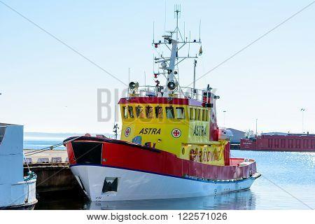 Astra Moored At Docks