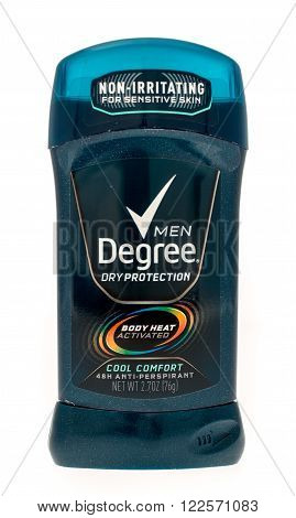 Winneconne WI -14 Oct 2015: Stick of Degree deodorant