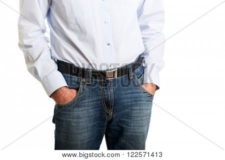 Man with his hands in pockets