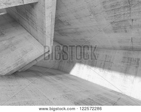 Concrete Architecture Background, 3D Render