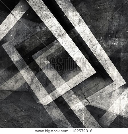 Abstract Square Concrete 3 D Background