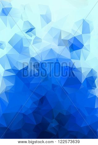 Abstract blue background. Geometric abstract vector background, pastel color. Modern and stylish abstract design poster, cover, card design. Vintage texture, dots pattern and geometric elements