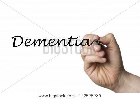 Dementia Written By A Hand