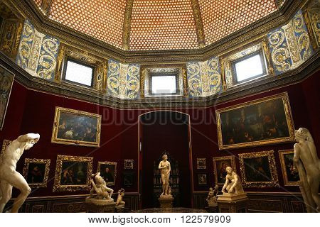 Interiors And Details Of The Uffizi, Florence, Italy