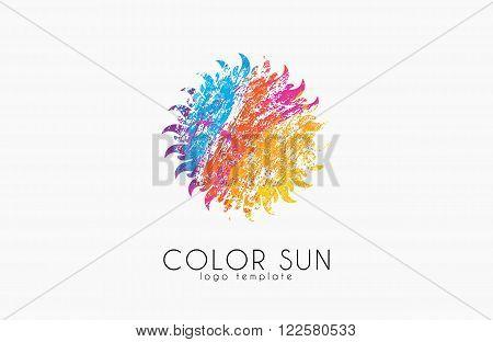 Sun logo design. color sun. Creative logo.