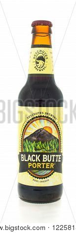 Winneconne WI - 3 February 2015: Black Butte Porter beer was first brewed in 1988 and located in Bend OR.