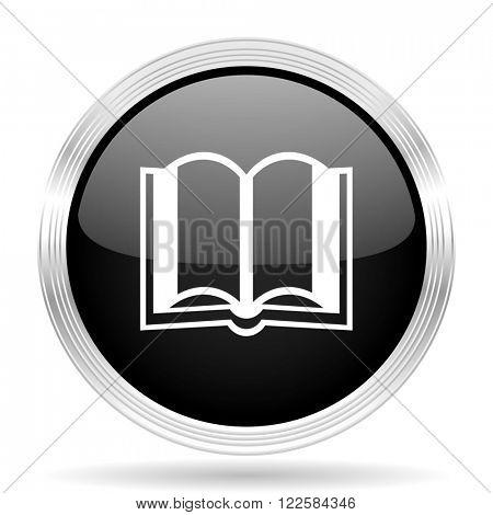 book black metallic modern web design glossy circle icon